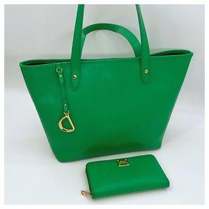 Ralph Lauren Handbag, Genuine Leather Tote Kelly